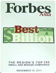 2011 Forbes Asia's 200 Best Under a Billion List