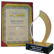 Malaysia HR Award 2012- Gold Award SME Best Employer Award