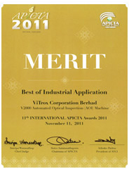 Best of Industrial Applications for MSC Malaysia APICTA Awards 2011 and Merit Award in International