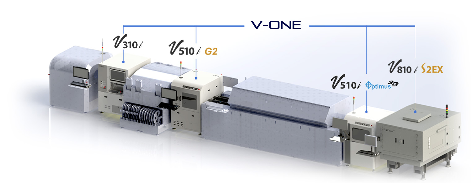 V-one software connect the inspection machines in SMT production free training & free online support