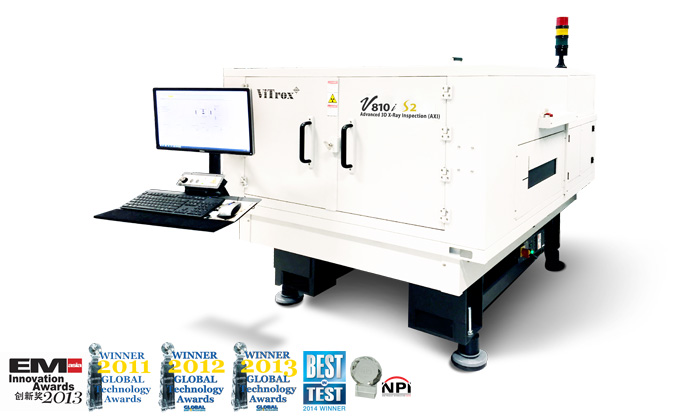 3d in-line advanced x-ray inspection system (axi) v810i s2